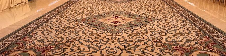 Majlis carpeting - custom orders with creative touches
